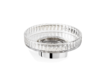Mydelniczka kryształowa szlifowana ścienna Decor Walther Century Wall Chrome Crystal Cut 11x4cm