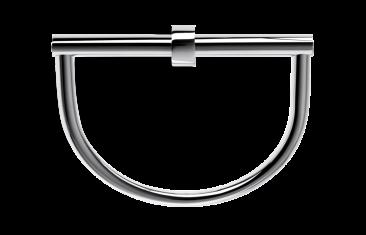 Wieszak na ręczniki półokrągły Decor Walther Century Chrome 22×8,5x20cm