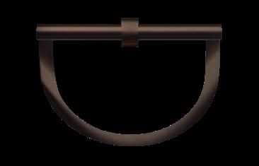 Wieszak na ręczniki półokrągły brązowy Decor Walther Century Bronze 22×8,5x20cm