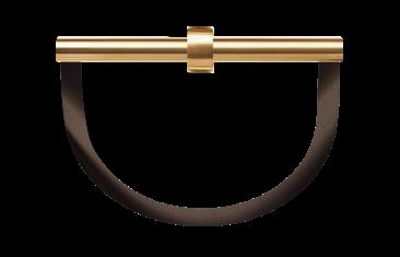 Wieszak na ręczniki półokrągły brąz/złoto Decor Walter Century Gold Bronze 22×8,5x20cm