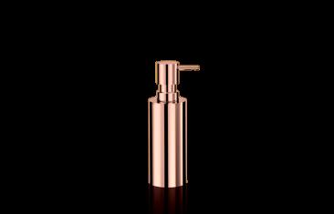 Dozownik na mydło okrągły, różowe złoto Decor Walther Mikado Rosegold 7x18cm