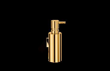 Dozownik na mydło okrągły ścienny złoty Decor Walther Mikado Wall Gold 7x18cm