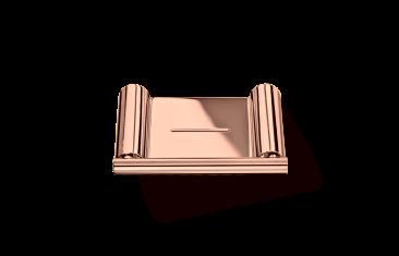 Mydelniczka ścienna, różowe złoto Decor Walther  Mikado Wall Rosegold 12×8,5×1,2cm