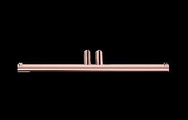 Uchwyt na papier podwójny, różowe złoto Decor Walther  Mikado Rosegold 27,5x7x1,5cm