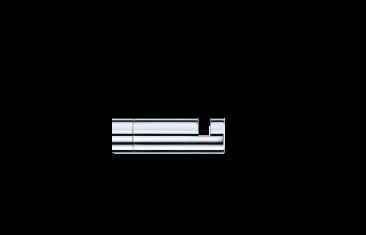 Wieszak na ręcznik Decor Walther Mikado Chrome 3,5×1,2cm