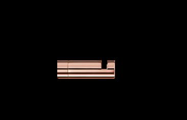 Wieszak na ręcznik, różowe złoto Decor Walther Mikado Rosegold 3,5×1,2cm