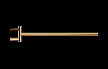 Wieszak na ręcznik, jednoramienny relingowy złoty Decor Walther Mikado Gold 40×6,5x1cm