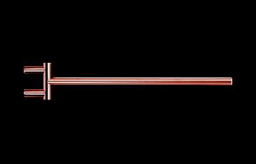 Wieszak na ręczniki jednoramienny relingowy, różowe złoto Decor Walther Mikado Rosegold 40×6,5x1cm