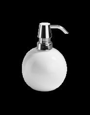 Dozownik na mydło kulisty biały/ chrom Decor Walther Divino Rnd White Chrome 10x12cm