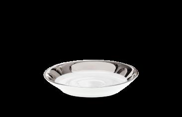 Mydelniczka porcelanowa, biały/chrom Decor Walther Divino Rnd White Chrome 9×1,5cm