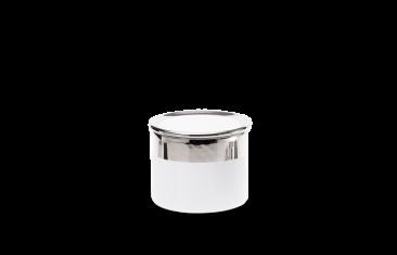 Pojemnik kosmetyczny porcelanowy, biały/chrom Decor Walther Divino Rnd White Chrome S.7×5,4cm