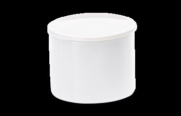 Pojemnik kosmetyczny porcelanowy biały Decor Walther Divino Rnd White S. 7×5,4cm