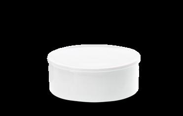 Pojemnik kosmetyczny porcelanowy biały Decor Walther Divino Rnd White L. 14,5×5,5cm