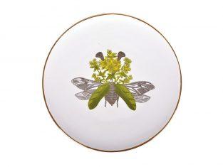 Talerz porcelanowy Majolika White Beetle L 28cm