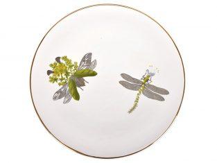 Talerz porcelanowy Majolika White Beetle S Dragon L 32cm