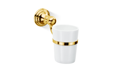 Kubek łazienkowy porcelanowy ścienny Gold Classic Decor Walther 7,5x16x13,5cm bbhome