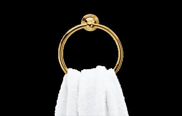 Wieszak na ręcznik okrągły złoty Decor Walther Classic Gold 6,5x23cm