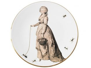 Talerz porcelanowy-hrabina Majolika Nieborów Countess 32×2,5cm