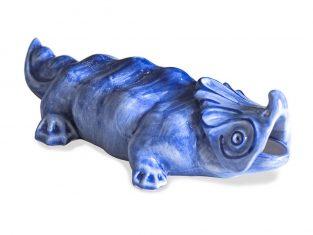 Popielnica Majolika Nieborów Dragon China Blue 28x14x8cm