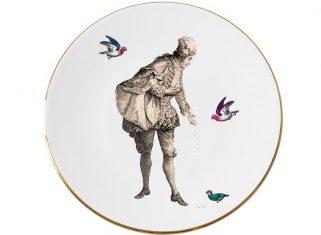 Talerz porcelanowy-przyjaciel Majolika Nieborów Friend 32×2,5cm
