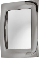 Lustro dekoracyjne w lustrzanej ramie Waves Grey 80x115cm