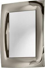 Lustro dekoracyjne w lustrzanej ramie Waves Silver Bronze 80x115cm