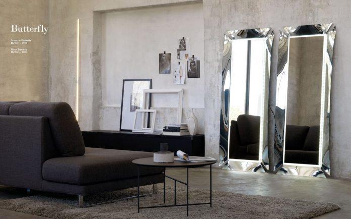 W stylu marinistycznym tapicerowane krzesła szklany salonu na wymiar
