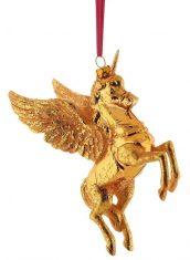 Ozdoba choinkowa BBHome Unicorn Gold 8,5x4x7cm
