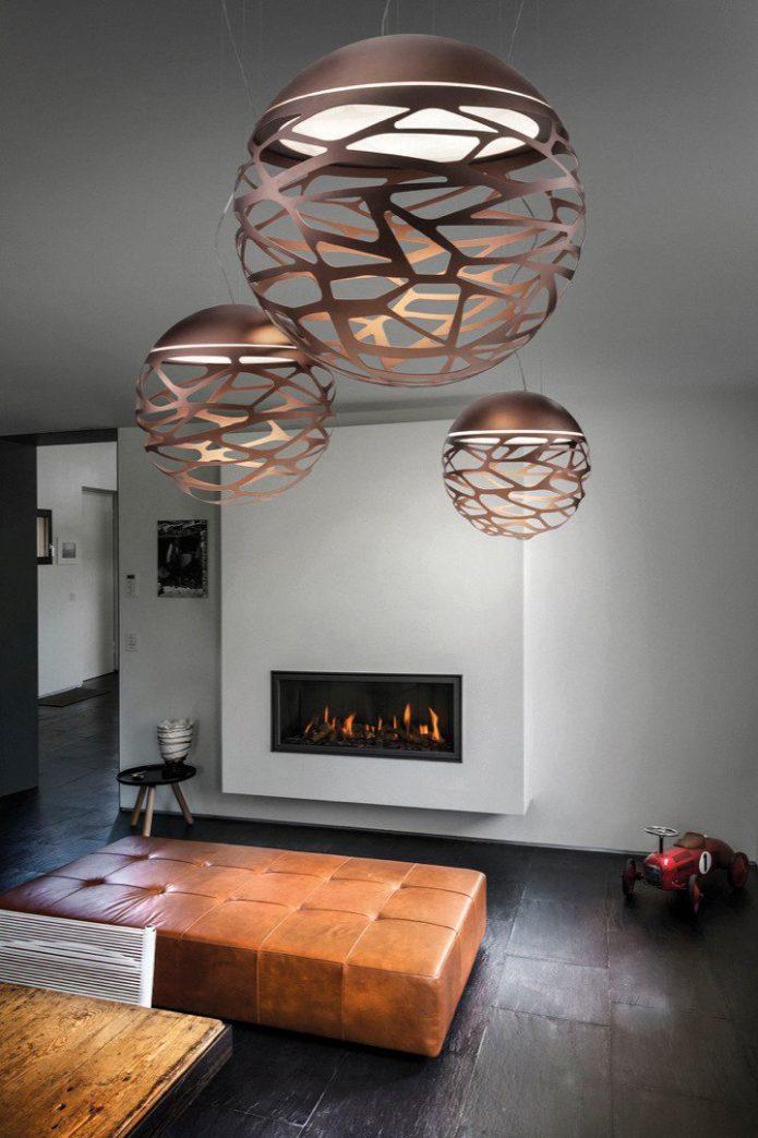 W stylu marinistycznym Lampy wiszące szklany salon outlet