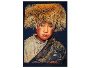 Pled żakardowy dekoracyjny FS Home Collections Tibetians Boy Navy 140x210cm
