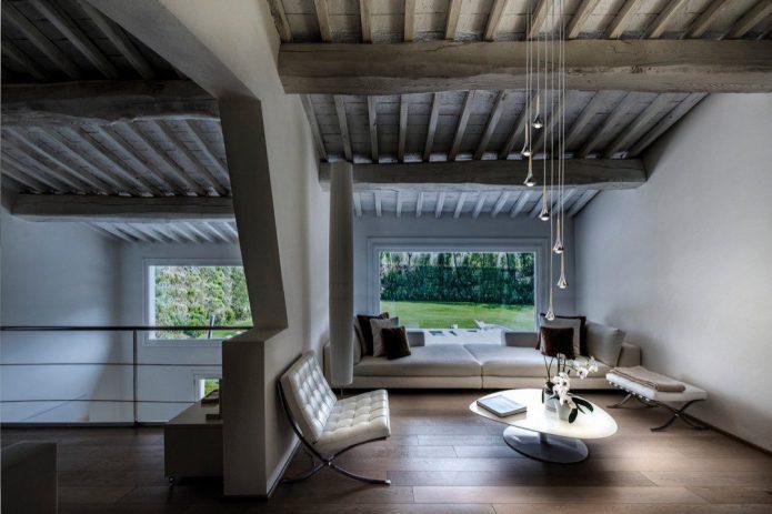 Modern biurka lite drewno salon aranżacje