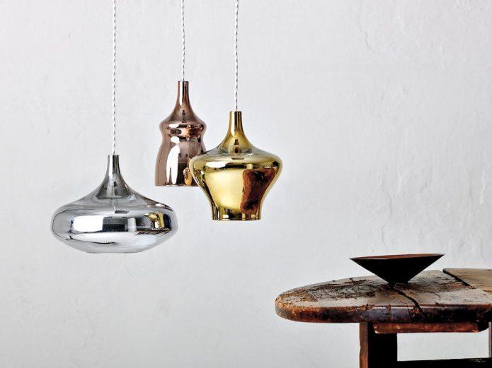 Eleganckie Lampy sufitowe mosiężne sypialni aranżacja
