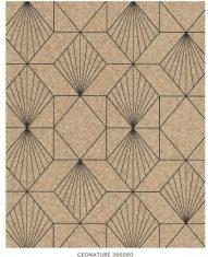 Tapeta z geometrycznym wzorem Eijffinger Geonature Taupe nr. 366080 10m x68cm