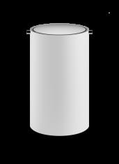Kosz łazienkowy na śmieci White Chrome Stone Decor Walther 18,5x30cm BBHOME