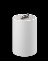 Pojemnik kosmetyczny Decor Walther Stone White Inox L 10x10x16,5cm