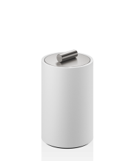 Pojemnik kosmetyczny Decor Walther Stone White Inox M 8x8x13,5cm