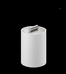Pojemnik kosmetyczny Decor Walther Stone White Inox S 8x8x11,5cm