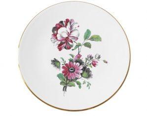 Talerz porcelanowy Majolika Nieborów Chrysanthemum 32cm