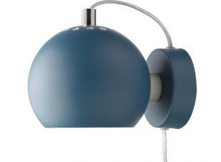 Kinkiet niebieski Frandsen Ball Blue Matt 15x12cm