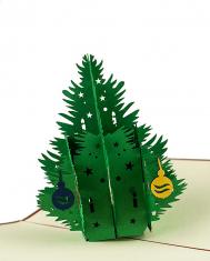 Kartka Świąteczna 3D Christmas Tree BBHome12x18cm