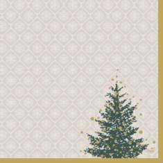 Serwetki świąteczne Trees in Gold Duni 40x40cm