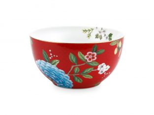 Miska Pip Studio Blushing Birds Flower Red 15cm