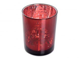 Świecznik na tealighty BBHome Trees Burgundy 10x10x13cm