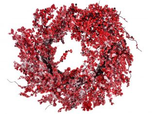 Wianek dekoracyjny BBHome Snowed Berries 66cm