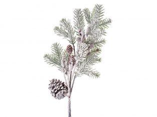 Gałązka sosny BBHome Snowed Pine Red Berry 73cm