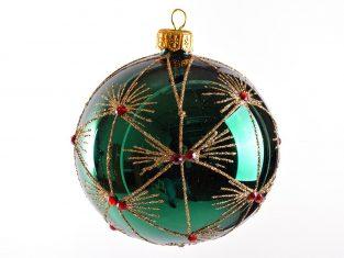 Bombka szklana BBHome Mariette Emerald 10cm