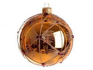 Bombka szklana BBHome Mariette Gold 10cm