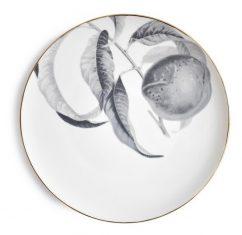 Talerz porcelanowy Majolika Peach Grey 28cm