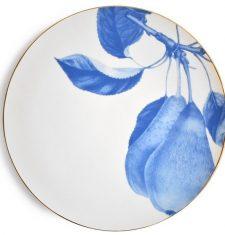 Talerz porcelanowy Majolika Pear Blue 32cm
