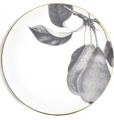 Talerz porcelanowy Majolika Pear Grey 32cm